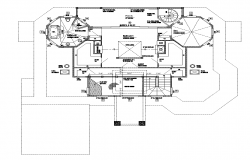 Residential building working plan detail layout dwg file