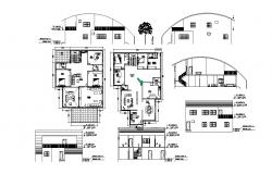 Residential bungalow layout in Autocad