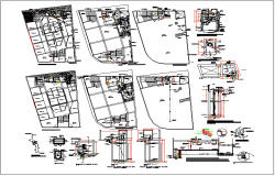 Residential bungalow plan view detail dwg file