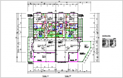 Residential floor plan for unit A and B dwg file