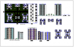 Residential high-rise building plan in detail dwg file