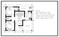 Residential house 900 square feet