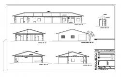 Residential house all sided sectional details dwg file