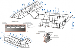 Residential house constructive details dwg file