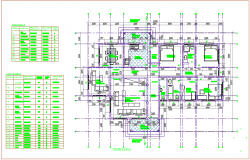 Residential house floor plan with door and window detail view dwg file