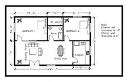 Residential house plan 1500 square feet