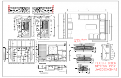 Residential house plan and design plan of layout details view dwg file