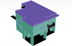 Residential house plan detail dwg file.