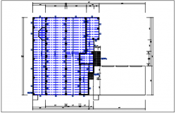 Residential house plan detail, roof projection plan view dwg file