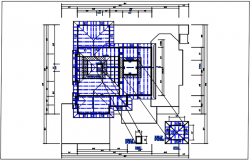Residential house & roof projection, plan view detail dwg file