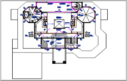 Residential house & roof projection plan view detail dwg file