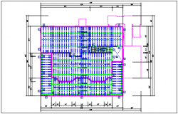 Residential house plan detail, roof projection plan view - dwg file