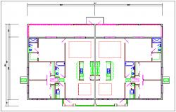 Residential house plan dwg file