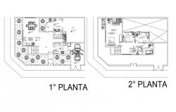 Residential house plan in AutoCAD