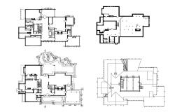 Residential house plan in dwg file