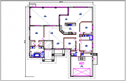 Residential house view details dwg files
