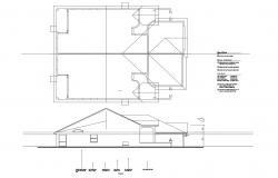 Residential house with elevation in dwg file