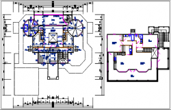 Residential house working plan detail view details dwg file