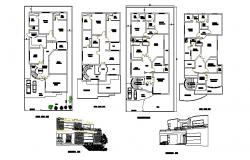 Residential house working plan of 50'*90' autocad drawing