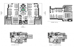 Residential housing building area detail plan 2d view layout dwg file