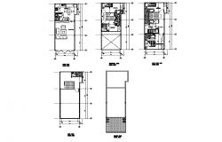 Residential housing building structure 2d view layout file in autocad format