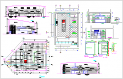 Residential housing kitchen elevation view in detail dwg file
