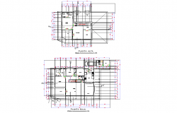 Residential housing plan autocad file