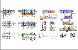 Residential housing plan detail information dwg file