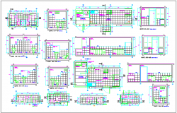 Residential housing plan detail view dwg file