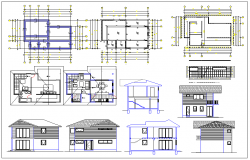 Residential housing plan dwg file