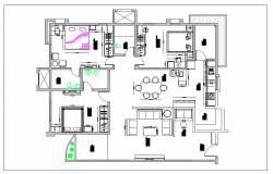 Residential housing plan view detail dwg file