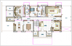 Residential housing plan view dwg file