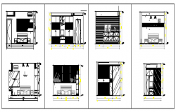 Residential interiors design drawing