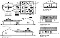 Residential single story plan