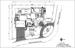 Residential site plan view dwg file