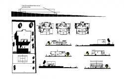 Residential two-level house detailed architecture project dwg file