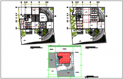 Residential working plan detail dwg file