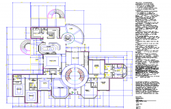 Resort Layout plan dwg file