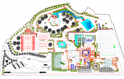 Resort Project detail view dwg file