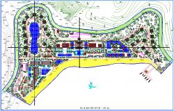 Resort Project dwg file