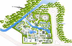 Resort Top View with landscaping design