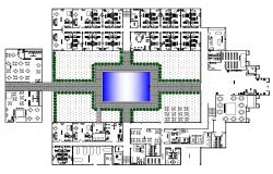 Resort building structure detail CAD constructive block layout file in autocad format