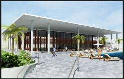 Resort building structure detail layout photoshop file