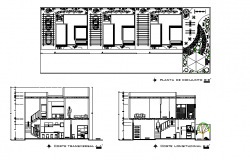 Restaurant  elevation layout plan dwg file