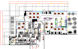 Restaurant Architecture Design and Structure Details dwg file