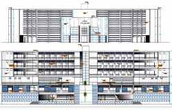 Restaurant Architecture Design of Five Star Hotel dwg file