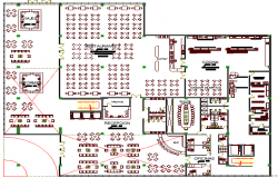 Restaurant Architecture Layout of Five Star Hotel dwg file