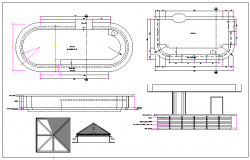 Restaurant Layout of Club House Elevation dwg file