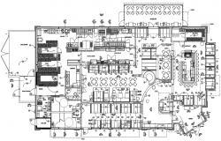 Restaurant Plan CAD Drawing download