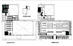 Restaurant architectural plan dwg file